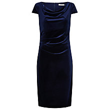 Buy Jacques Vert Cap Sleeve Velvet Dress, Navy Online at johnlewis.com