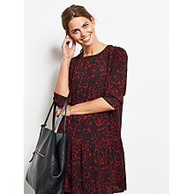 Buy hush Drew Dress, Burgundy Animal Print Online at johnlewis.com