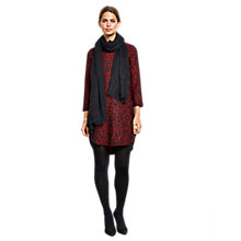Buy hush Multi Annabelle Dress, Burgundy Animal Print Online at johnlewis.com