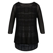 Buy Celuu Vera Shadow Stripe Jumper, Black Online at johnlewis.com