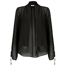 Buy Jacques Vert Chiffon Kimono Cover Up, Black Online at johnlewis.com