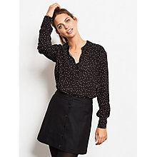 Buy hush Wool Button Skirt, Black Online at johnlewis.com