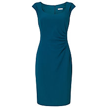 Buy Jacques Vert Side Pleat Crepe Dress, Dark Green Online at johnlewis.com