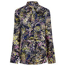 Buy Warehouse Winter Floral Classic Shirt, Blue Online at johnlewis.com