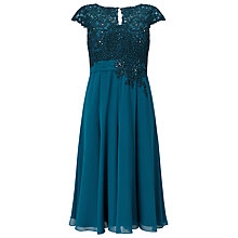 Buy Jacques Vert Petite Lace Bodice Dress, Dark Blue Online at johnlewis.com