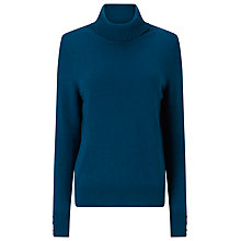 Buy Jacques Vert Roll Neck Jumper, Mid Green Online at johnlewis.com