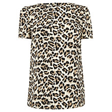 Buy Oasis Animal Print Formal T-Shirt, Multi Online at johnlewis.com