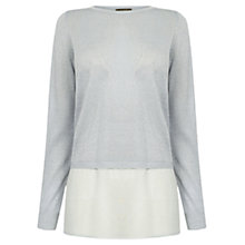 Buy Oasis Sparkle Chiffon Wrap Back Top Online at johnlewis.com