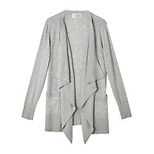 Buy Precis Petite by Jeff Banks Waterfall Cardigan, Dark Grey Online at johnlewis.com