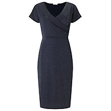 Buy Jacques Vert Cross Front Dress, Navy Online at johnlewis.com