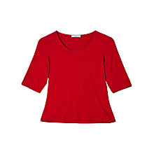 Buy Precis Petite Jeff Banks Jersey Top, Dark Red Online at johnlewis.com