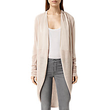 Buy AllSaints Silk Itat Shrug Cardigan, Quartz Pink Marl Online at johnlewis.com