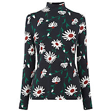 Buy Warehouse Pop Daisy Printed Polo Top, Multi Online at johnlewis.com