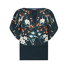 Buy Oasis Osaka Kimono Top, Turquoise Online at johnlewis.com