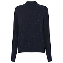 Buy Warehouse Pearlescent Jumper, Navy Online at johnlewis.com
