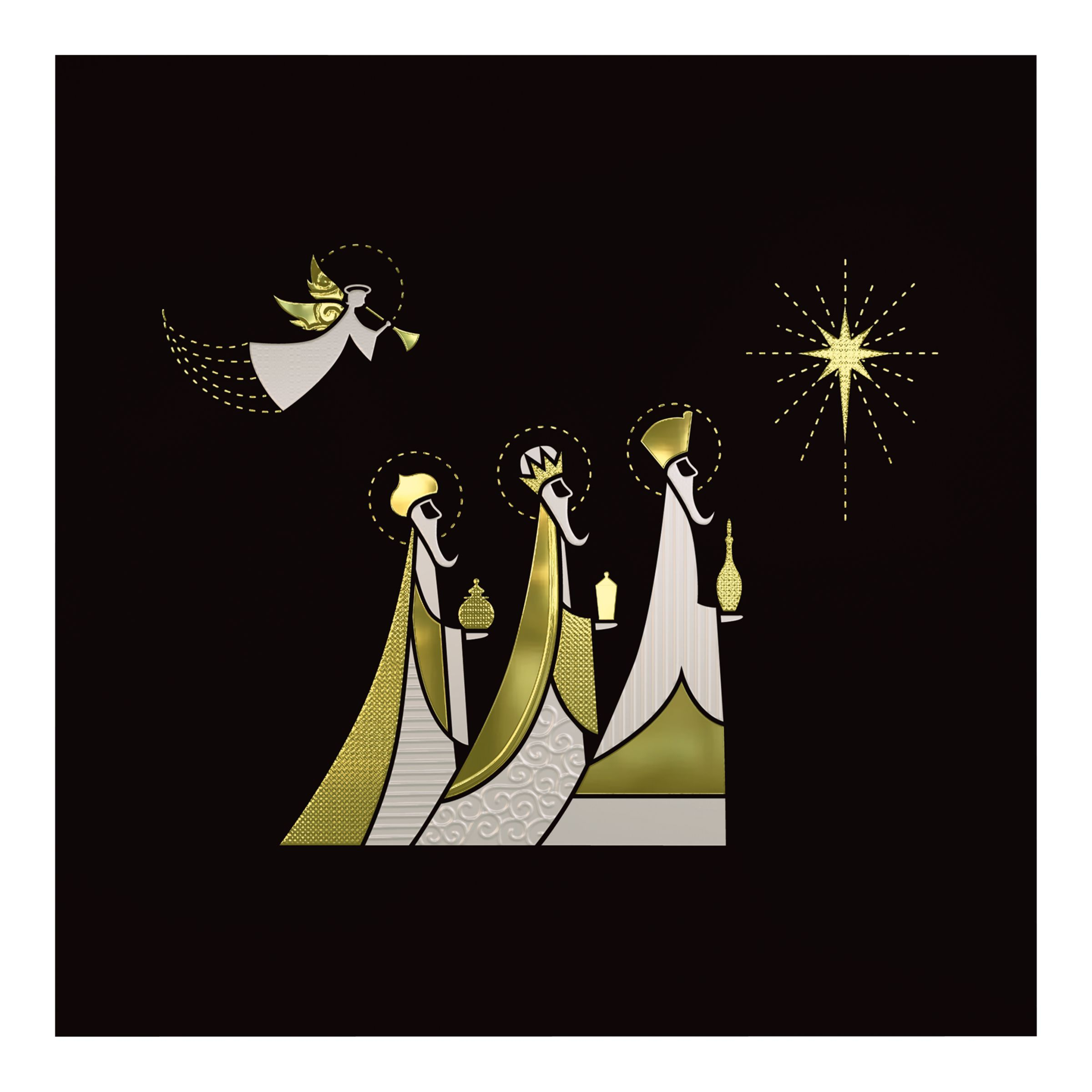 CCA CCA Personalised 'An Angel and Three Kings' Charity Christmas Cards