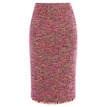 Buy Karen Millen Fringed Tailored Skirt, Pink/Multi Online at johnlewis.com