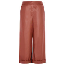 Buy Karen Millen Faux Leather Culottes, Tan Online at johnlewis.com