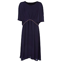 Buy Yanny London Drape Layered Dress, Purple Online at johnlewis.com