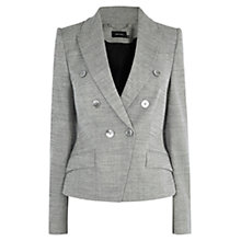Buy Karen Millen Tailored Folded Collection Blazer, Grey Online at johnlewis.com