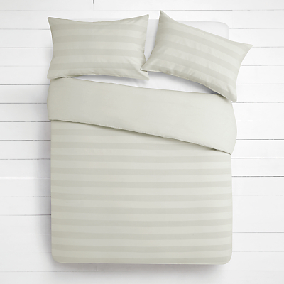 House by John Lewis Waffle Stripe Duvet Cover and Pillowcase Set