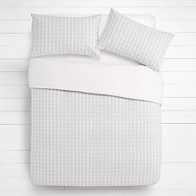 Buy House by John Lewis Woven Check Duvet Cover and Pillowcase Set Online at johnlewis.com