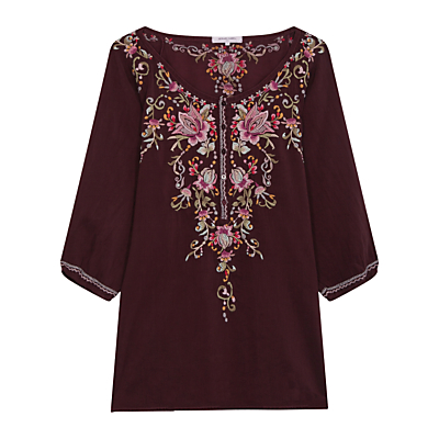 Gerard Darel Anouk Blouse, Dark Red