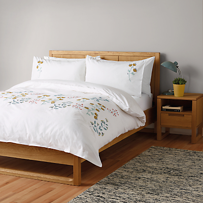 John Lewis Scandi Embroidery Duvet Cover and Pillowcase Set