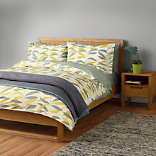 Buy John Lewis Scandi Lina Leaf Duvet Cover and Pillowcase Set Online at johnlewis.com