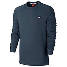 Buy Nike Sportswear Modern Crew Training Top, Squadron Blue Online at johnlewis.com