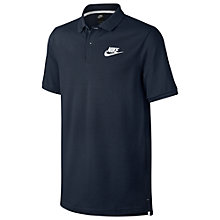 Buy Nike Sportswear Polo Shirt, Blue Online at johnlewis.com