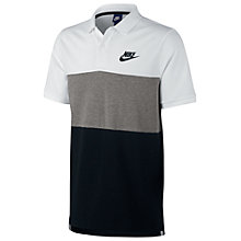 Buy Nike Matchup Polo Shirt, White/Grey/Black Online at johnlewis.com