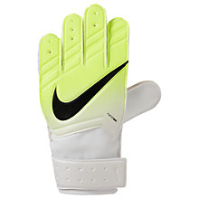 Buy Nike Junior Goalkeeper Match Football Gloves, White/Volt/Black Online at johnlewis.com