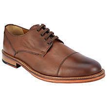 Buy John Lewis New Surrey Toe Cap Derby Shoes, Tan Online at johnlewis.com