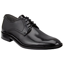 Buy Kin by John Lewis Hi-Shine Leather Derby Shoes, Black Online at johnlewis.com