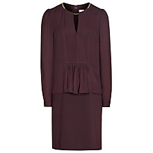 Buy Reiss Daze Chain Neck Dress, Berry Online at johnlewis.com
