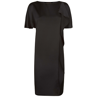 Jaeger Cascade Drape Dress, Black