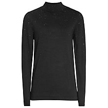 Buy Reiss Souli Sparkle Jumper, Black Online at johnlewis.com