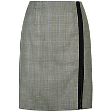 Buy Jaeger Wool Prince of Wales Skirt, Black/Ivory Online at johnlewis.com