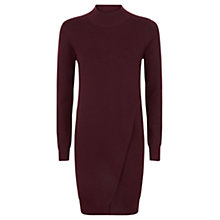 Buy Jaeger Wool Layered Dress, Bordeaux Online at johnlewis.com