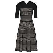 Buy Reiss Alithia Technique Dress, Black/Pink Online at johnlewis.com