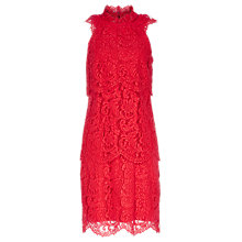 Buy Reiss Sophia Lace Overlay Dress, China Red Online at johnlewis.com