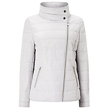 Buy Windsmoor Asymmetric Short Quilted Jacket, Light Grey Online at johnlewis.com