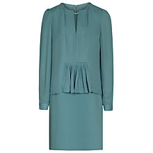 Buy Reiss Daze Chain Neck Dress, Emerald Sea Online at johnlewis.com