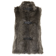 Buy Mint Velvet Faux Fur Buckle Gilet, Grey Online at johnlewis.com