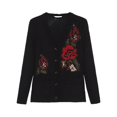 1940s Style Sweaters and Knit Tops Gerard Darel Adelaide Cardigan Black £80.00 AT vintagedancer.com