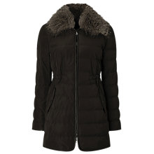 Buy Windsmoor Pu Trim Collar Down Coat, Brown Online at johnlewis.com
