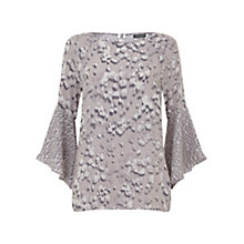 Buy Mint Velvet Robee Print Fluted Sleeve Top, Multi Online at johnlewis.com