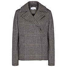 Buy Reiss Harley Checked Coat, Black/Off White Online at johnlewis.com