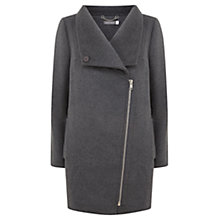Buy Mint Velvet Funnel Biker Coat, Grey Online at johnlewis.com